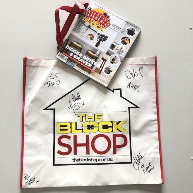 The Block Magazine + Autographed Bag | BUSHFIRE FUNDRAISER