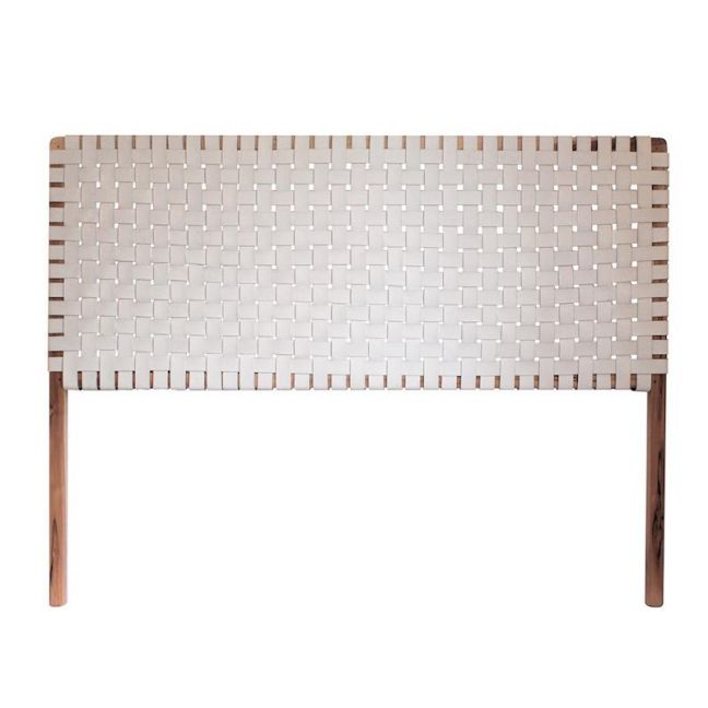 The Fern Headboard | White Snow Leather | King | by Coco Unika