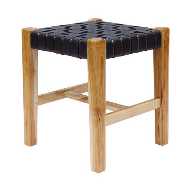 The Finn Stool | Midnight Navy Leather | by Coco Unika