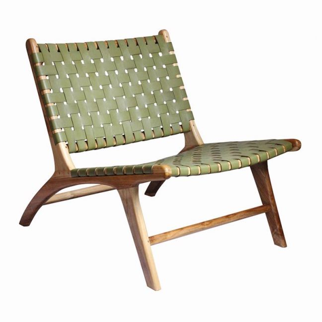 The Joni Chair   Olive Green Leather   by Coco Unika