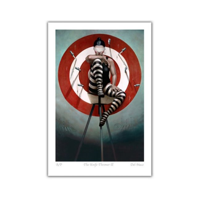 The Knife Thrower III   Limited Edition Print   by Gill Del-Mace