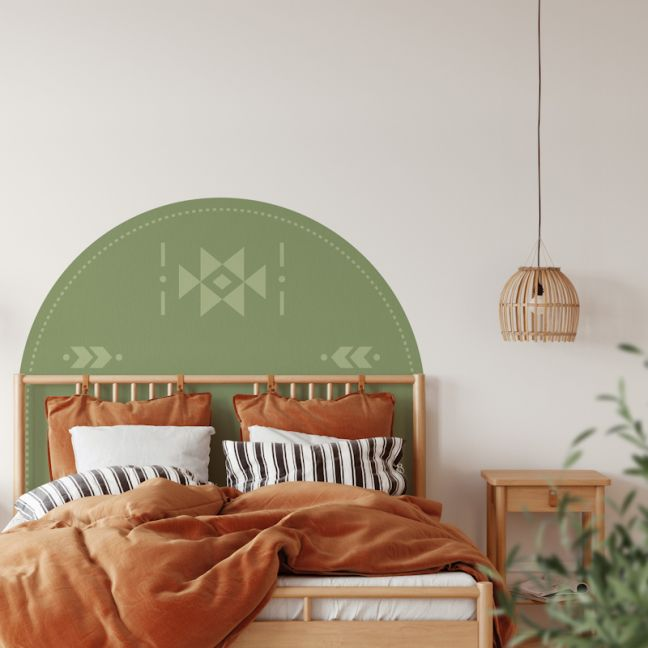 The Olive | Reusable Decal Headboard