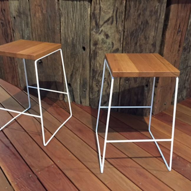 The Shay Stool   by Connollys Timber   White