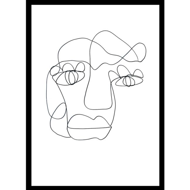 Tillie   One Line Art Print   Jess Marney Design