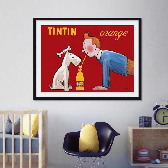 Tintin Orange Soda Vintage Poster | Unframed Art Print
