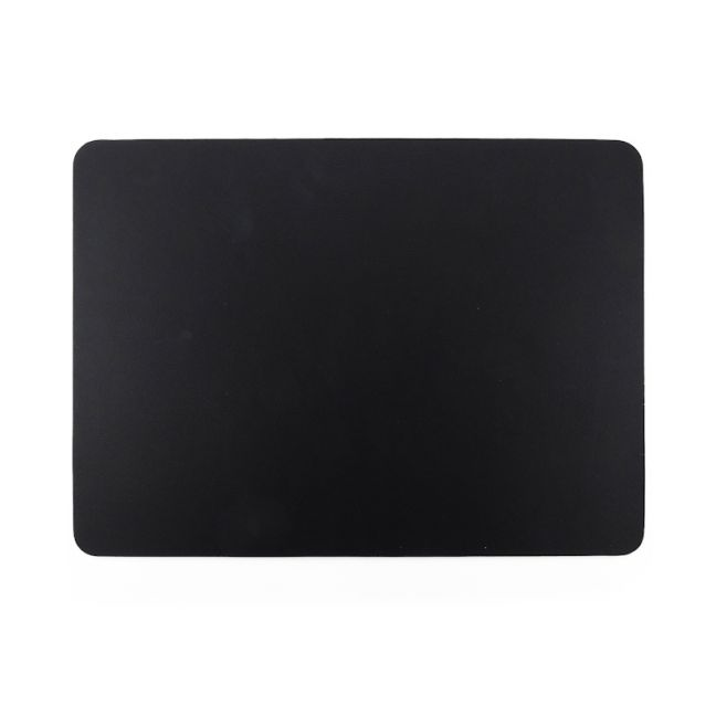 Togo Faux Leather Placemat | Set of 2 | Black | CLU Living