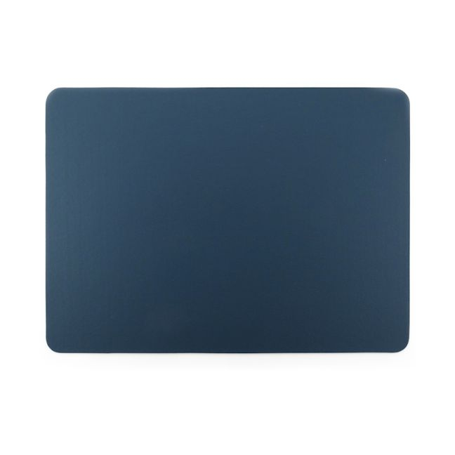 Togo Faux Leather Placemat | Set of 2 | Blue | CLU Living