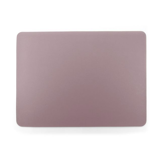 Togo Faux Leather Placemat | Set of 2 | Mauve | CLU Living
