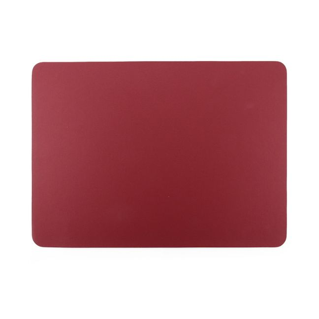 Togo Faux Leather Placemat | Set of 2 | Red | CLU Living