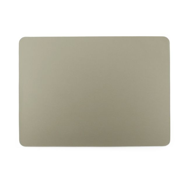 Togo Faux Leather Placemat | Set of 2 | Taupe | CLU Living