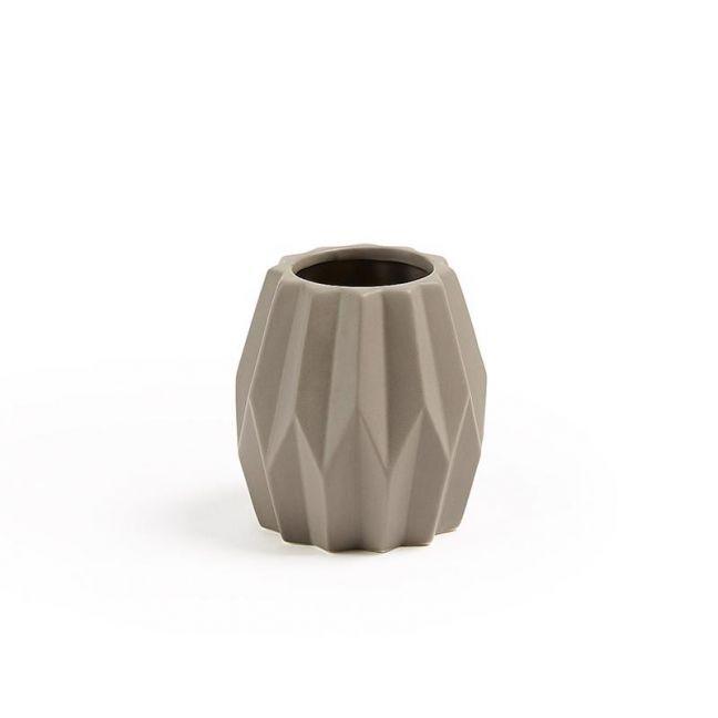 Tron Ceramic Vase   Latte   CLU Living