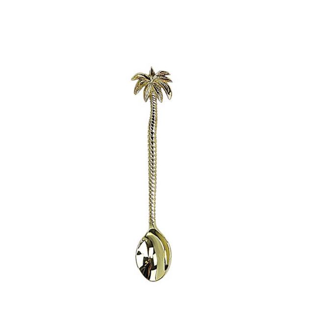 Tropical Brass Palm Tree Dessert Spoon | OMG I WOULD LIKE