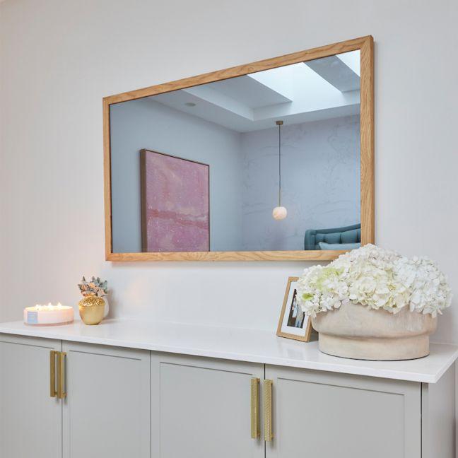 TV-Mirror Modern Rustic Oak Slim Frame   Mitch & Mark 2021