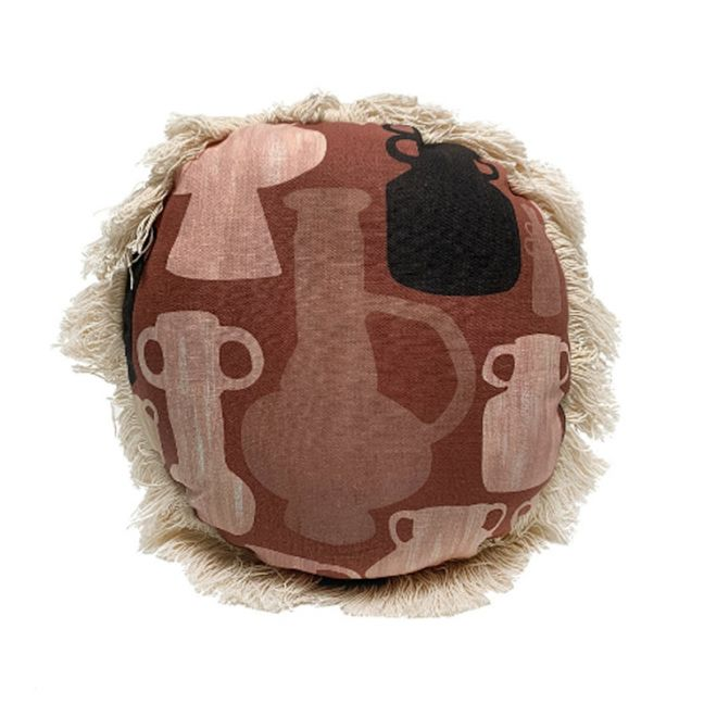 Urns Round Cushion | Rust