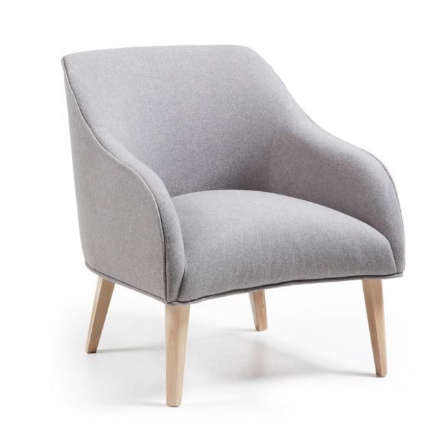VALENTINE Upholstered Armchair | Grey
