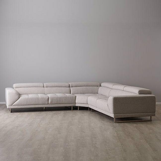 Valiant Corner Chaise Lounge | Fabric | Neutral