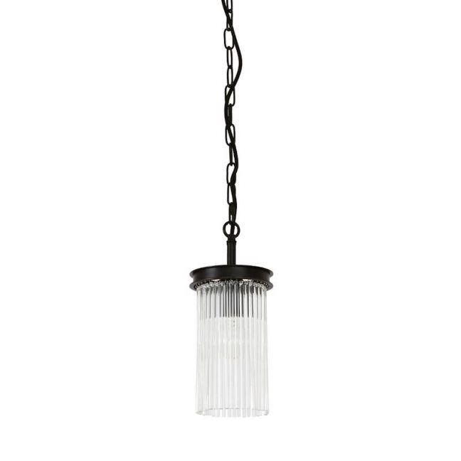 Veil 1 Light Pendant in Antique Black | By Beacon Lighting