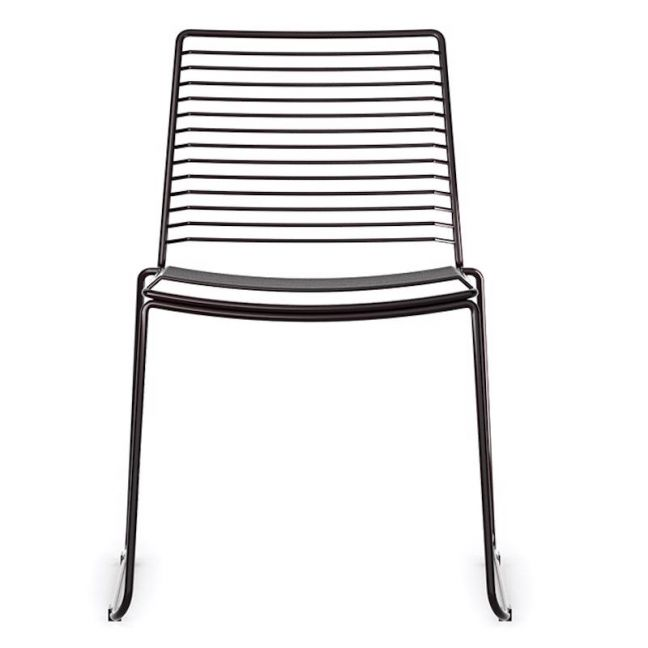 Velletri Black Indoor Outdoor Solid Wire Dining Chair