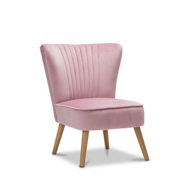 Velvet Blush Pink Slipper Accent Chair