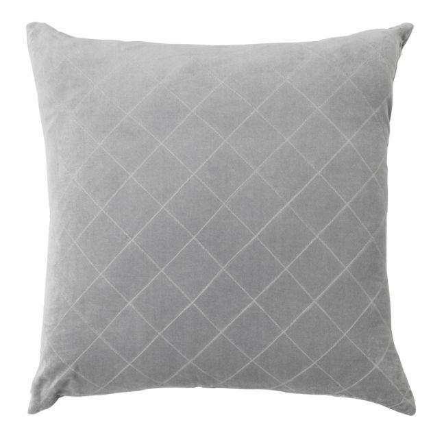 Velvet Quilted Cushion | Smoke