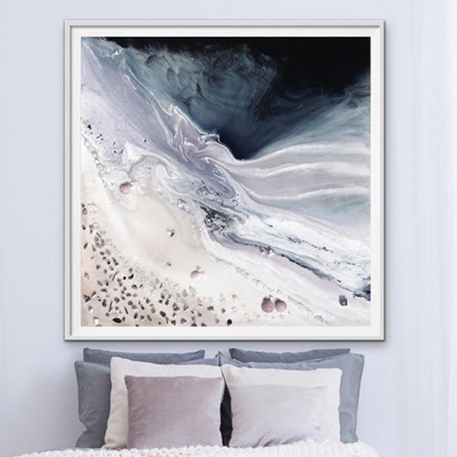 Velvet Skyes Neutral Grey | Abstract Artwork | CANVAS Limited Edition Print | Antuanelle