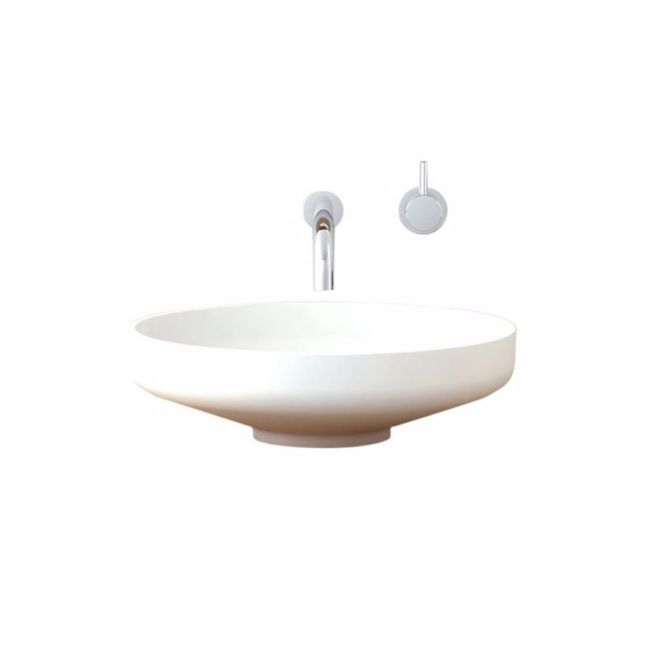 Venice 450 Solid Surface Counter Basin White | Reece