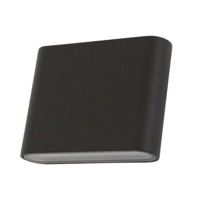 Viba LED Small Exterior Wall Sconce in Black   Beacon Lighting