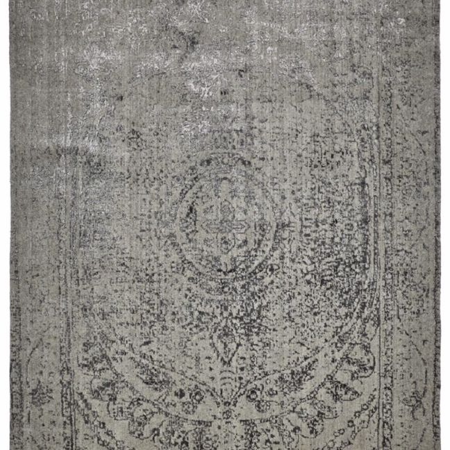 Vienna Rose Wool Rug | Grey