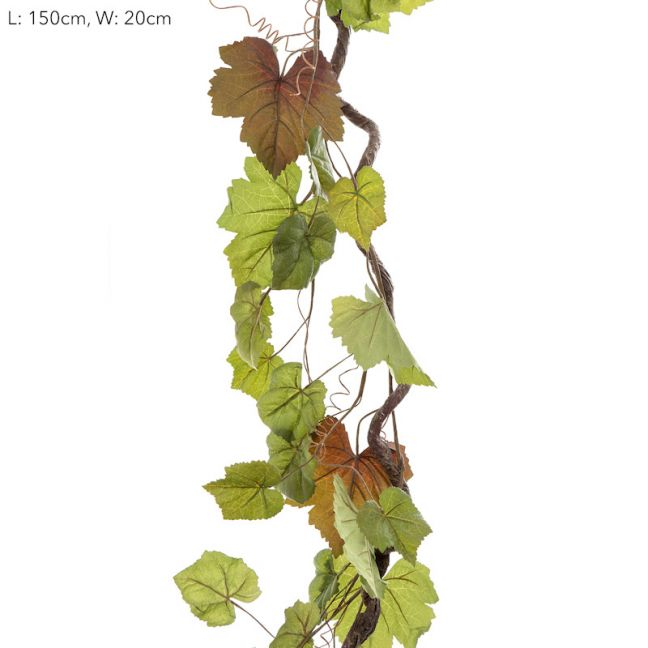 Vine Leaf Garland Grape x6garlands