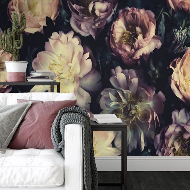 Vintage Bouquet   Full Wall Mural