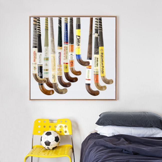 Vintage Hockey Sticks Canvas