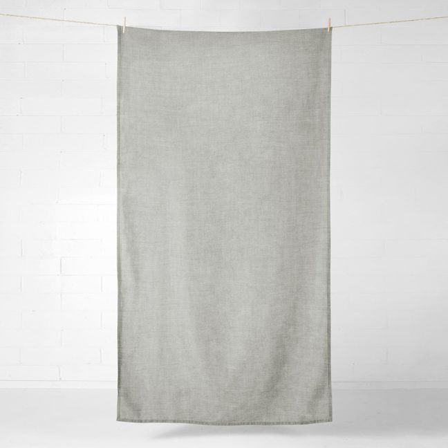 Vintage Linen Throw/Tablecloth | Mink by Aura Home