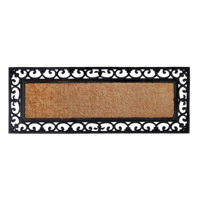 Vista   45x120 CM   Rubber Bordered Coir Doormat   Fab Habitat