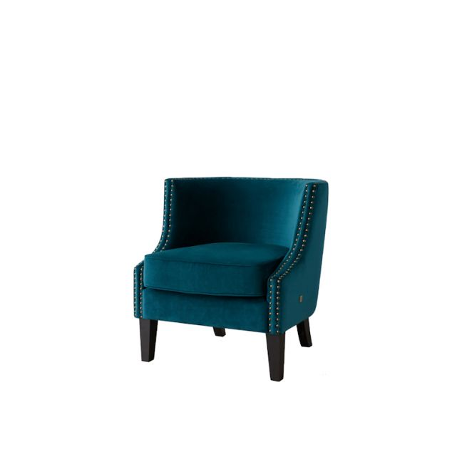 Vogue Occasional Chair | Velvet | Teal