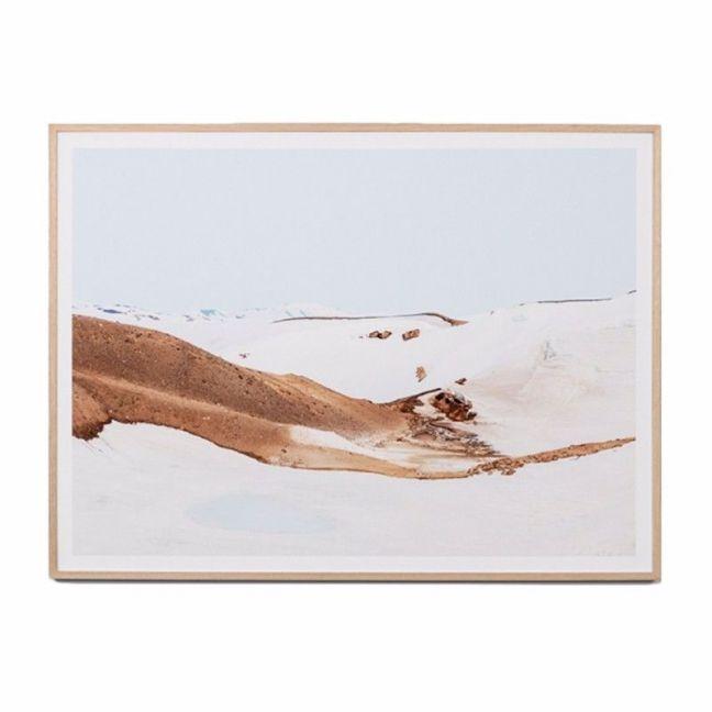 Volcanic Snow | Framed Art Print