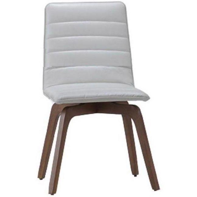 Volente Dining Chair   Walnut + Cream