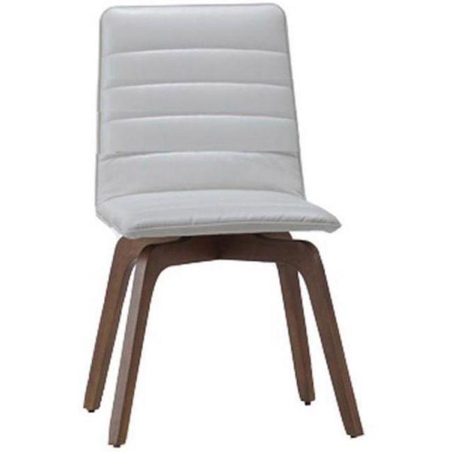 Volente Dining Chair | Walnut + Cream | Modern Furniture