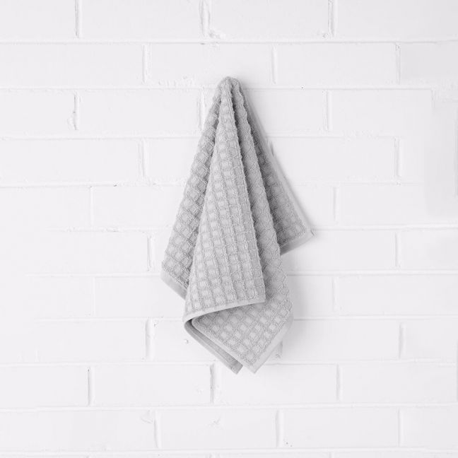 Waffle Hand Towel | Dove | by Aura Home