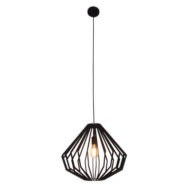 Walderik Large Squat Pendant in Black | Beacon Lighting