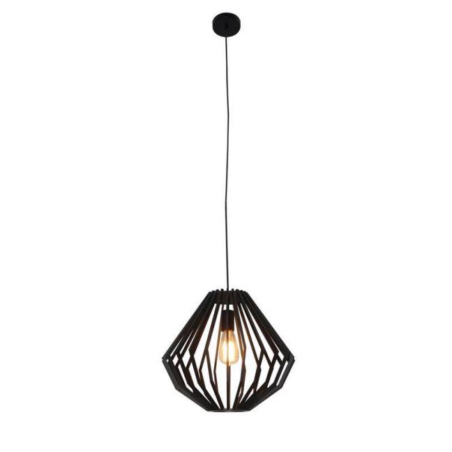 Walderik Medium Squat Pendant in Black | Beacon Lighting