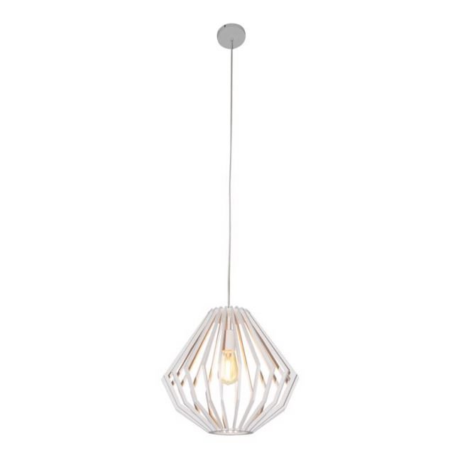 Walderik Medium Squat Pendant in White | Beacon Lighting