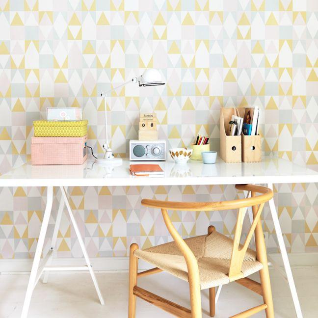 Wallpaper   Alice   Pink & Yellow