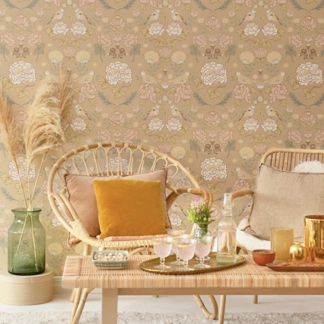 Wallpaper | June | Honey Beige