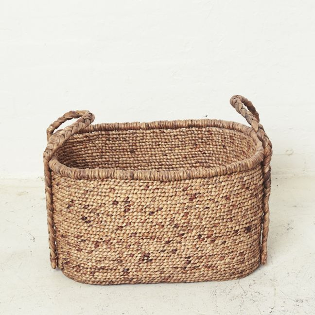 Waterhyacinth Oval Baskets w Plaited Handles l Pre Order
