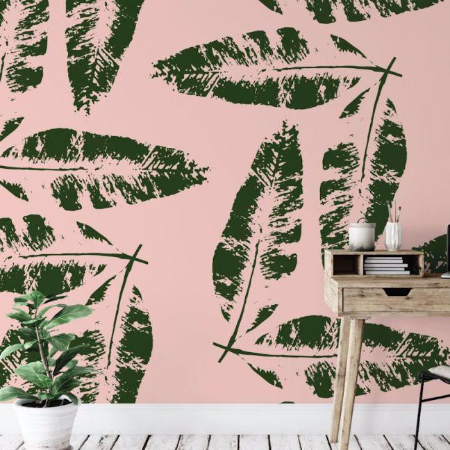 We're Leafing - Garden Love   Eco Wallpaper   Blush Pink   Amba Florette