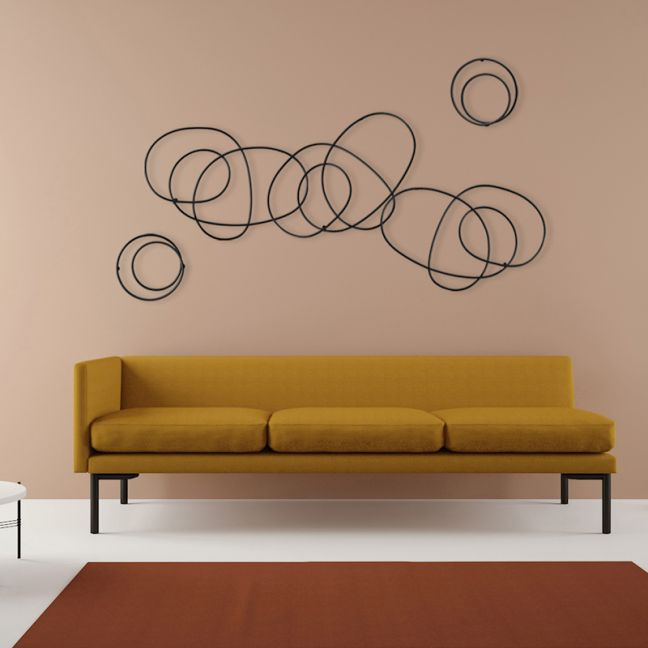 Whirl Wall Sculpture   Black