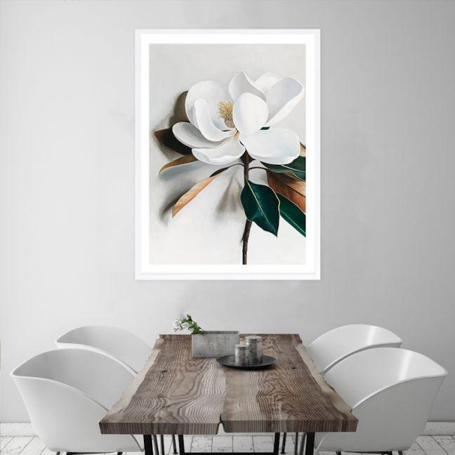 White Magnolia I Premium Art Print (Various Sizes)
