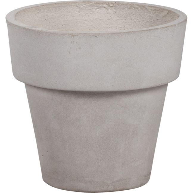 Winston 30x28cm Concrete Planter | Milky White
