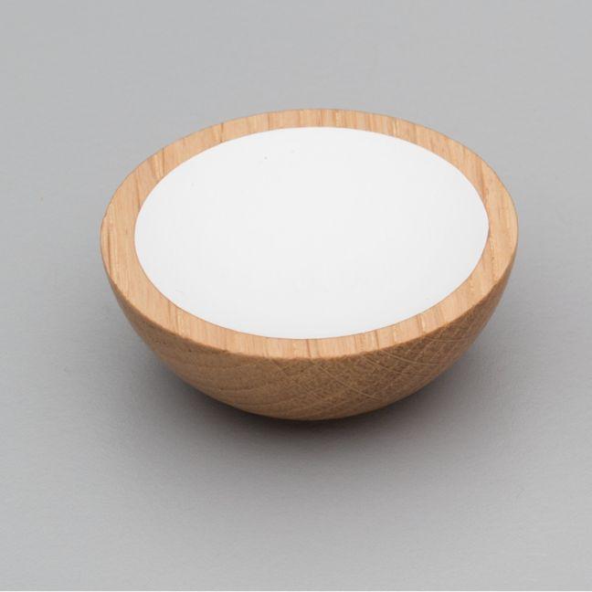 WOK Knob | Oak with White