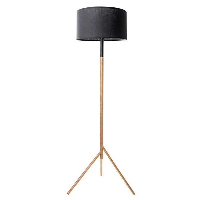 Woodi Floor Lamp   Black and Oak   Modern Furniture